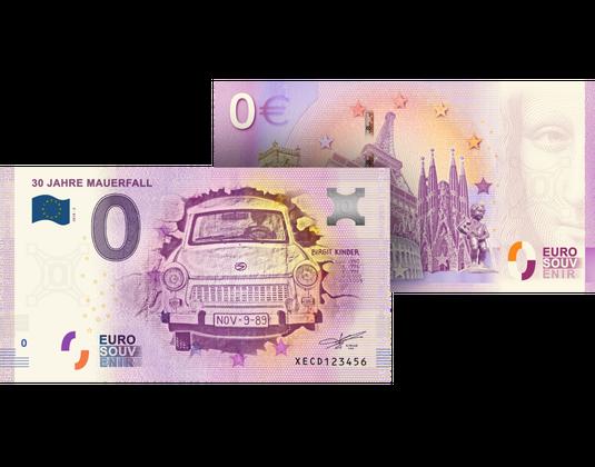 0 Euro Banknote 30 Jahre Mauerfall Mdm Deutsche Münze