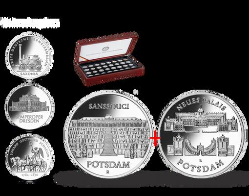 Kollektion Die Offiziellen Gedenkmünzen Der Ddr Startlieferung