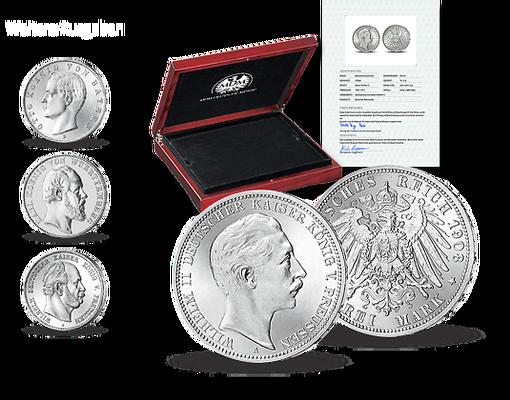 Silbermünzen Deutsche Kaiser Und Könige Mdm Deutsche Münze