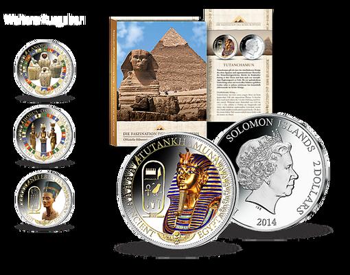 Silbermünzen Des Alten ägyptens Mdm Deutsche Münze