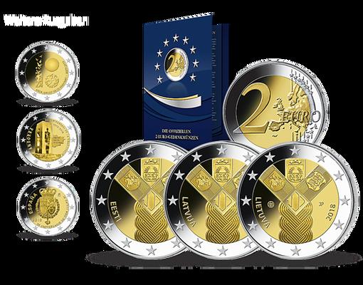 Die 2 Euro Gedenkmünzen Der 19 Euro Länder Start Die Drei 2 Euro