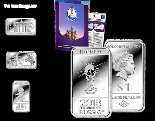 Die Offiziellen Silberbarren Münzen Zur Fifa Fußball Wm Russland
