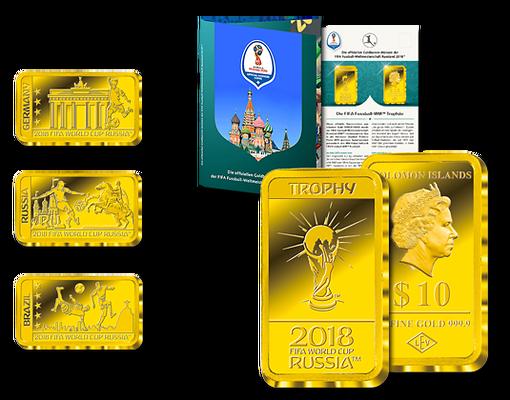 Goldbarren Münzen Zur Fifa Fussball Wm Russland 2018 Offizielle