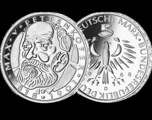 5 Dm Münze 1968 Max Von Pettenkofer Mdm Deutsche Münze