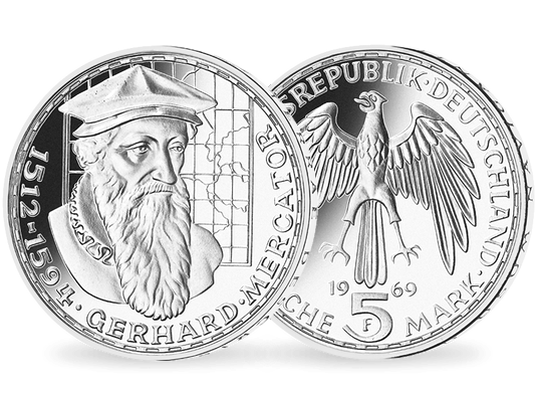5 Dm Münze 1969 Gerhard Mercator Mdm Deutsche Münze