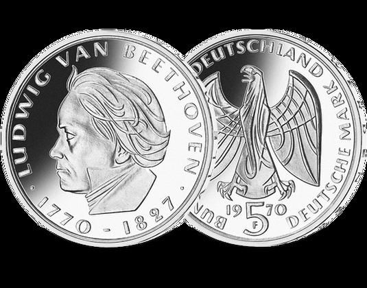 5 Dm Münze 1964 Ludwig Van Beethoven Mdm Deutsche Münze