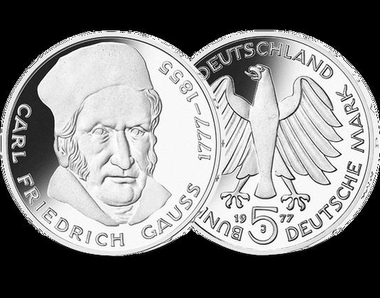 5 Dm Münze 1977 Carl Friedrich Gauß Mdm Deutsche Münze
