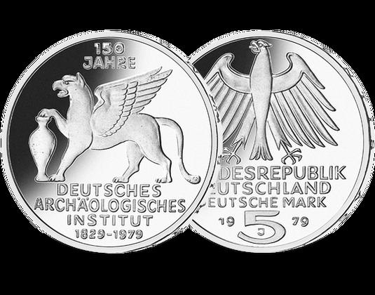 5 Dm Münze 1977 Deutsches Archäologisches Institut Mdm Deutsche