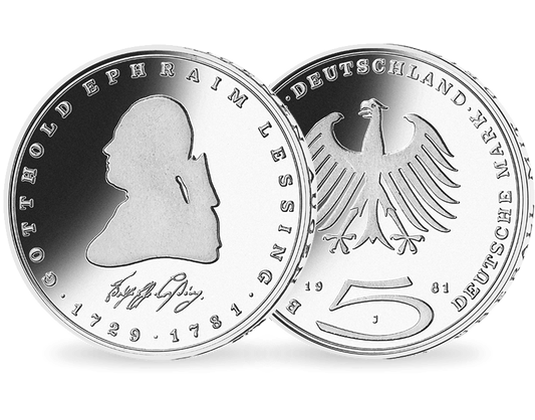 5 Dm Münze 1977 Gotthold Ephraim Lessing Mdm Deutsche Münze