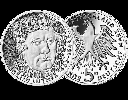 5 Dm Münze 1983 Martin Luther Mdm Deutsche Münze