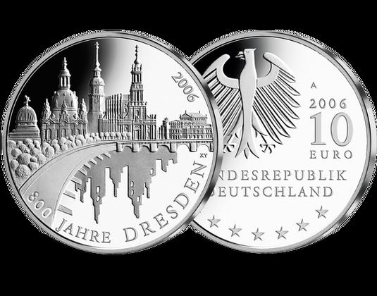 10 Euro Münze Dresden Mdm Deutsche Münze