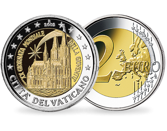 2 Euro Vatikan 2005 Weltjugendtag Köln Mdm Deutsche Münze