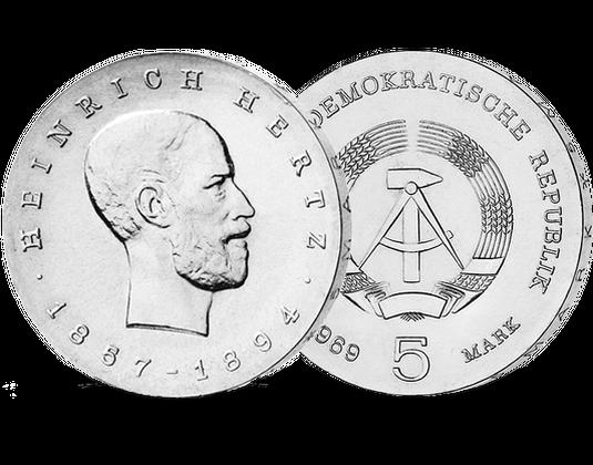 5 Ddr Mark 1969 Heinrich Hertz Mdm Deutsche Münze