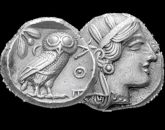 Antike Silbermünze Eule Aus Athen Mdm Deutsche Münze