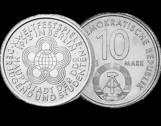 10 Ddr Mark 1973 X Weltfestspiele Der Jugend Und Studenten In Ost