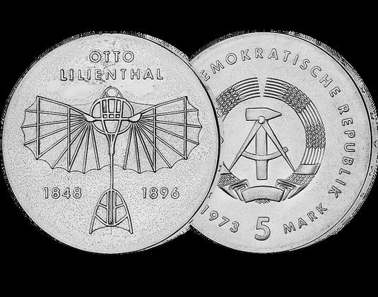 5 Ddr Mark 1973 Otto Lilienthal Mdm Deutsche Münze
