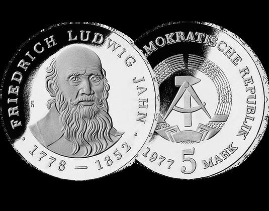 5 Mark Ddr 1977 Friedrich Ludwig Jahn Mdm Deutsche Münze