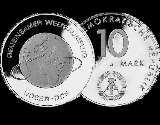 10 Mark Ddr 1978 Weltraumflug Mdm Deutsche Münze