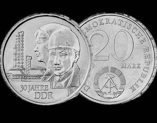 20 Mark Ddr 1979 30 Jahre Ddr Mdm Deutsche Münze