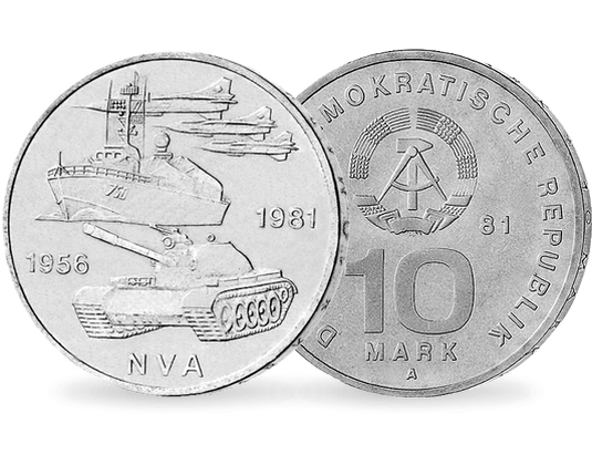 10 Mark Ddr 25 Jahre Nationale Volksarmee Mdm Deutsche Münze