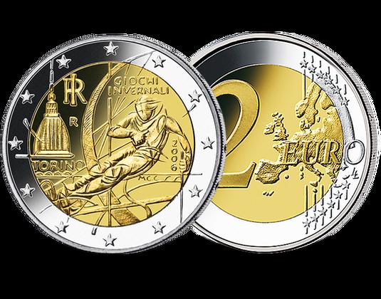 2 Euro Italien 2006 Olympische Winterspiele Turin Mdm Deutsche Münze