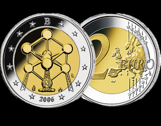 2 Euro Belgien 2006 Atomium Mdm Deutsche Münze