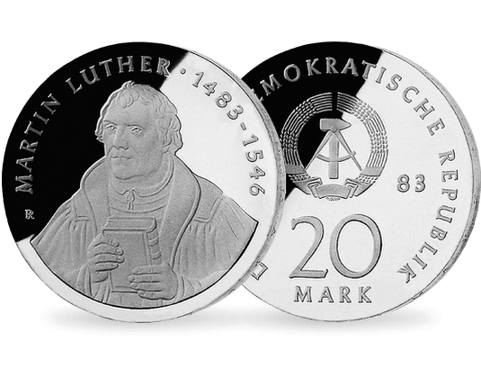20 Mark Ddr 1983 Martin Luther Mdm Deutsche Münze