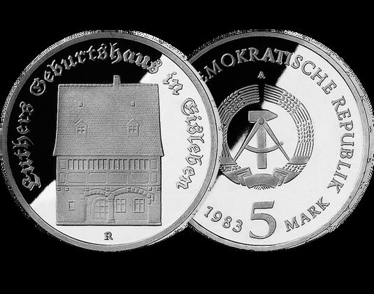 5 Mark Ddr 1983 Luthers Geburtshaus In Eisleben Mdm Deutsche Münze