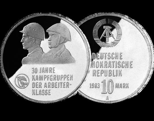 10 Mark Ddr 1983 30 Jahre Kampfgruppen Mdm Deutsche Münze