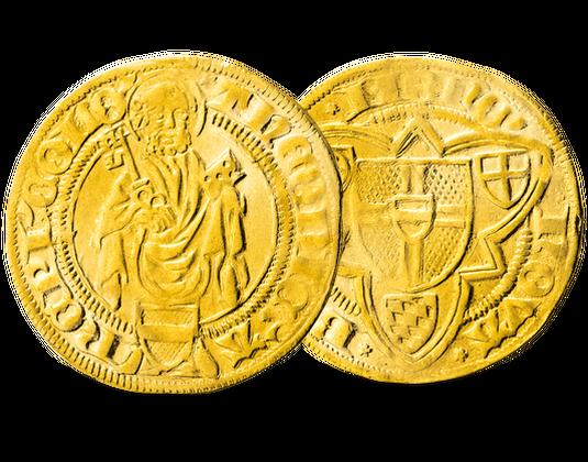 Deutscher Goldgulden 15 Jahrhundert Mdm Deutsche Münze
