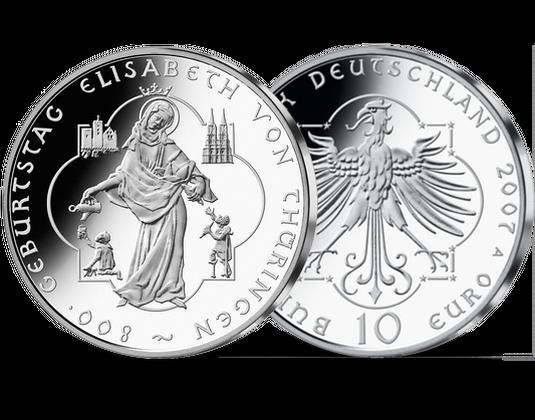 10 Euro Münze Elisabeth Von Thüringen Mdm Deutsche Münze