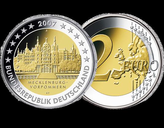 2 Euro Münze 2007 Mecklenburg Vorpommern Mdm Deutsche Münze