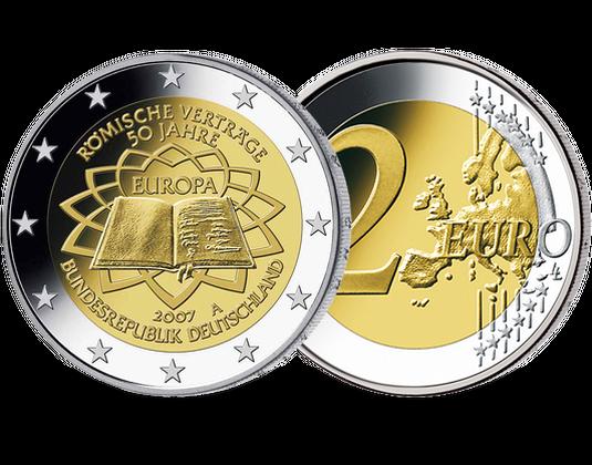 2 Euro Münze 2007 Römische Verträge Mdm Deutsche Münze