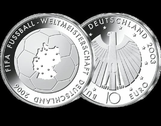 10 Euro Münze Fußball Wm 2006 Mdm Deutsche Münze