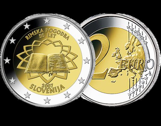 2 Euro Slowenien 2007 Römische Verträge Mdm Deutsche Münze