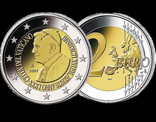 2 Euro Vatikan 2007 Papst Benedikt Xvi Mdm Deutsche Münze