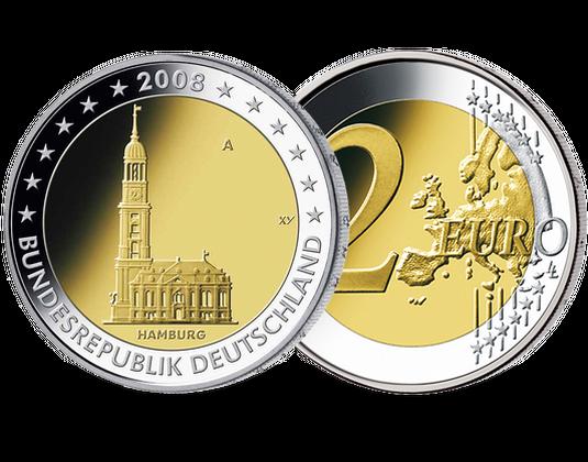 2 Euro Münze 2008 Hamburg Mdm Deutsche Münze
