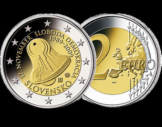 2 Euro Slowakei 2009 Frieden Demokratie Mdm Deutsche Münze