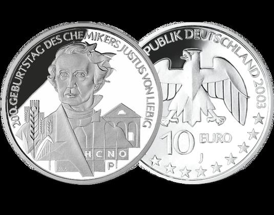 10 Euro Münze Justus Von Liebig Mdm Deutsche Münze