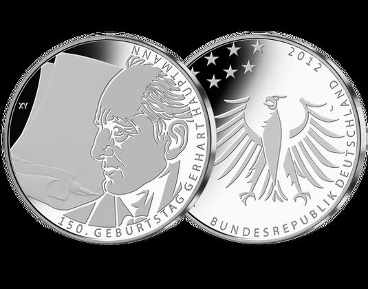 10 Euro Münze 2012 150 Geburtstag Gerhart Hauptmann Mdm