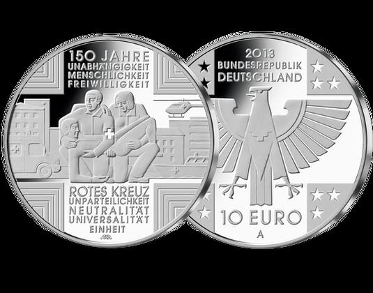 10 Euro Münze 2013 Rotes Kreuz Mdm Deutsche Münze