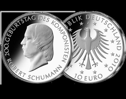 10 Euro Münze Robert Schumann Mdm Deutsche Münze