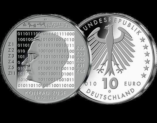 10 Euro Münze Konrad Zuse Mdm Deutsche Münze