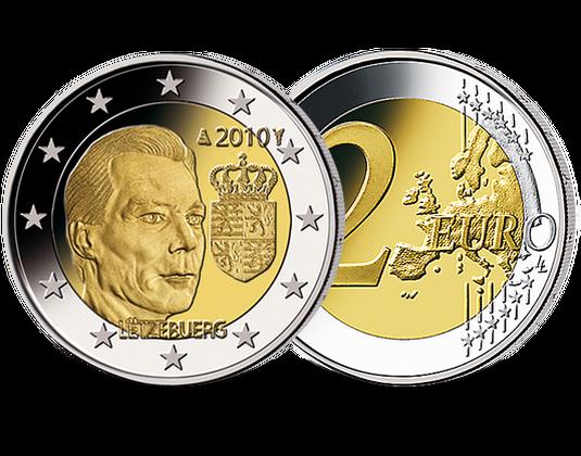 2 Euro Luxemburg 2010 Wappen Großherzog Mdm Deutsche Münze