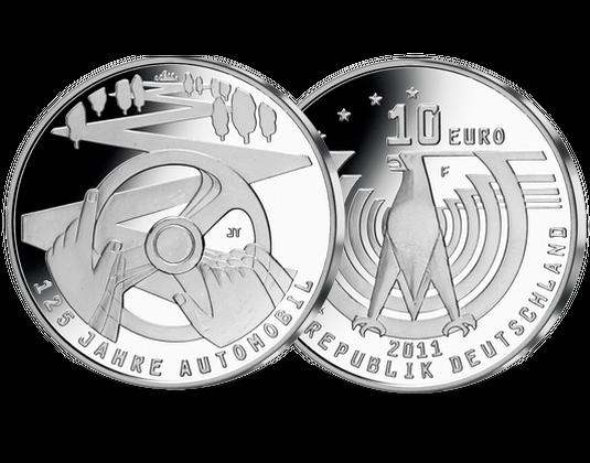 10 Euro Münze 125 Jahre Automobil Mdm Deutsche Münze