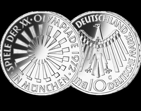 10 Dm Münze 1972 Olympia Spirale München Mdm Deutsche Münze
