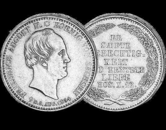 Sachsen 13 Taler 1854 Friedrich August Ii Mdm Deutsche Münze