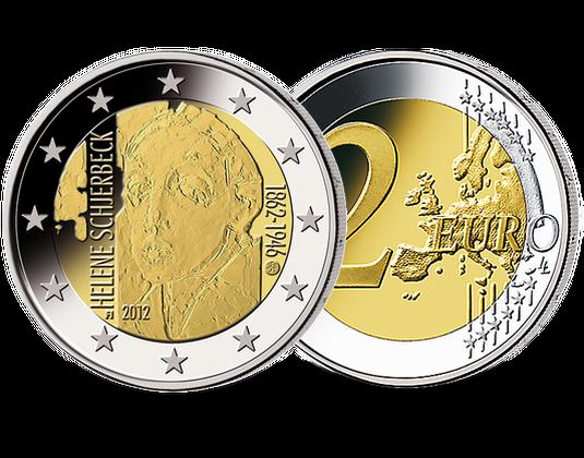 2 Euro Finnland 2012 Helene Schjerfbeck Mdm Deutsche Münze
