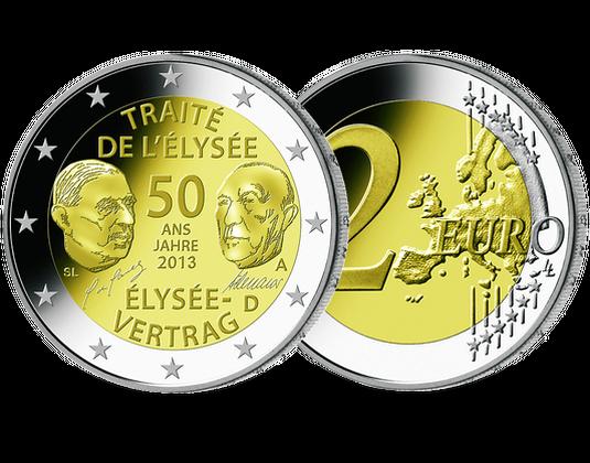 2 Euros 50 Ans Du Traite De L Elysee Allemagne 2013 Societe