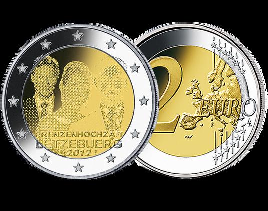 2 Euro Luxemburg 2012 Hochzeit Erbgroßherzog Mdm Deutsche Münze